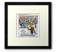 More Cowbell Please by Londons Times Cartoons Framed Print