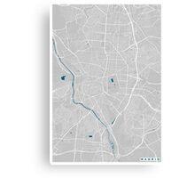 Madrid city map grey colour Canvas Print