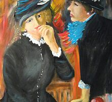 Two Ladies in Black by Renoir by Jsimone