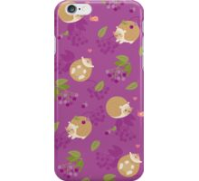 Kawaii Hedgehog purple pattern iPhone Case/Skin