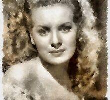 Maureen O'Hara by John Springfield by esotericaart