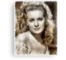 Maureen O'Hara by John Springfield Canvas Print