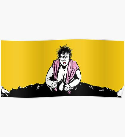 Big Girl with Towel Poster