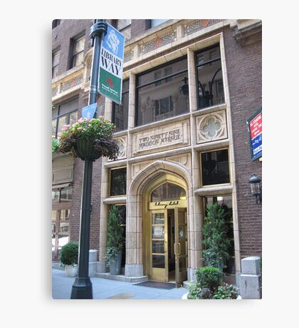 The Library Hotel on Library Way Canvas Print