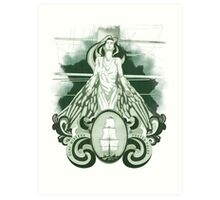 Nunc Minerva postea palas (1.0) Art Print