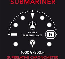Oyster Submariner Rolex Chronometer Watch Poster by Valtoria