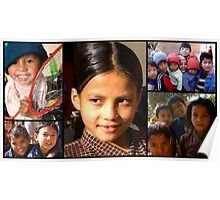 Happy Moments At An Orphanage Poster