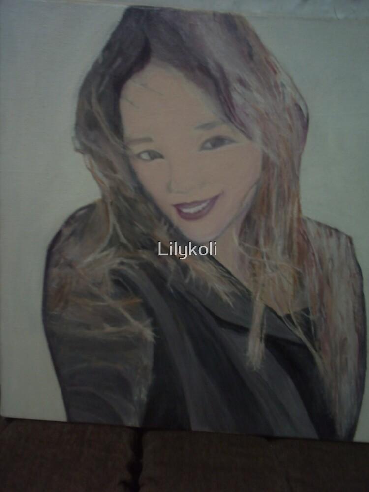 Portrait of my eldest daughter by Lilykoli