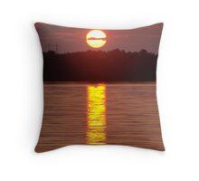 Bears Pass Sunset Throw Pillow