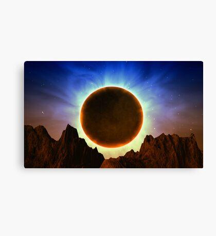 Strange Eclipse Canvas Print