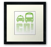 GREEN car taxi bus GO! Framed Print