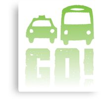 GREEN car taxi bus GO! Canvas Print
