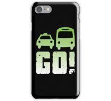 GREEN car taxi bus GO! iPhone Case/Skin
