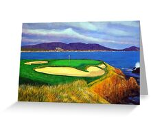 Seven at Pebble Beach Greeting Card