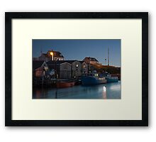 Harbour At Peggy's Cove Framed Print