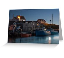 Harbour At Peggy's Cove Greeting Card