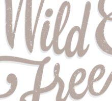 Wild & Free // Woodland deer and plants pattern Sticker