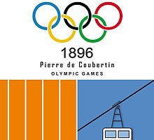 Summer and Winter Sports, Pierre de Coubertin Hommage Poster by Valtoria