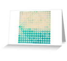 Abstract circles background with grunge paper Greeting Card