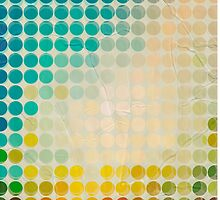 Abstract circles background with grunge paper by smotrivnebo