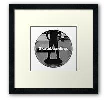 Round Skateboarding Patch Framed Print