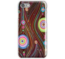 Abstract Vector Background with lines and circles iPhone Case/Skin