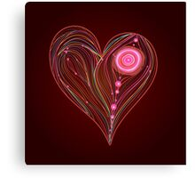 Abstract vector heart Canvas Print