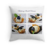 Blueberry Strudel Dreams Throw Pillow