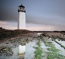 Southerness Lighthouse at Sunset by Maria Gaellman