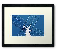 Blue Wires Overhead  Framed Print