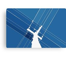 Blue Wires Overhead  Canvas Print
