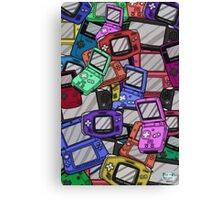 Handheld Console Pattern 02 Canvas Print