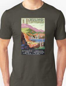 Kuling China Vintage Travel Poster Restored Unisex T-Shirt