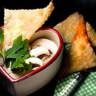 Mushroom Soup With Crispy Strudel by SmoothBreeze7