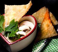 Mushroom Soup With Crispy Strudel by SmoothBreeze7
