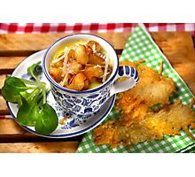 Bavarian Macaroni With Cheese and Crispy Cheese Cookie Photographic Print