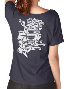 Happy Squiggles - 1-Bit Oddity - White Version Women's Relaxed Fit T-Shirt