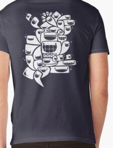 Happy Squiggles - 1-Bit Oddity - White Version Mens V-Neck T-Shirt