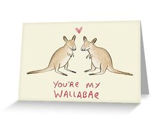 Wallabae Greeting Card