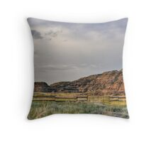 Waiting for the Bleriot Ferry Throw Pillow