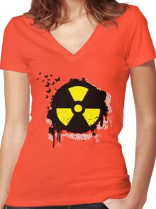 nuclear hazzard Women's Fitted V-Neck T-Shirt