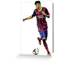Neymar Greeting Card