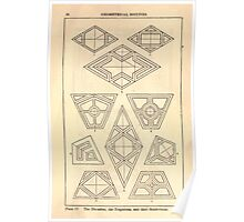 A Handbook Of Ornament With Three Hundred Plates Franz Sales Meyer 1896 0042 Geometrical Elements Rhombus Trapezium Subdivision Poster