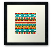 Merry Christmas seamless pattern Framed Print
