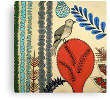 Retro Birdie Canvas Print