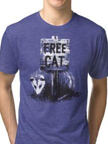 Free cat Tri-blend T-Shirt