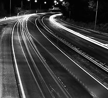 Freeway Lights by Craig Hender