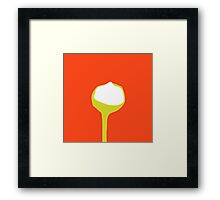 Spoon (red) Framed Print