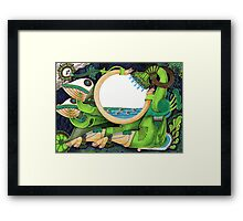 Watering Framed Print