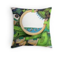 Watering Throw Pillow
